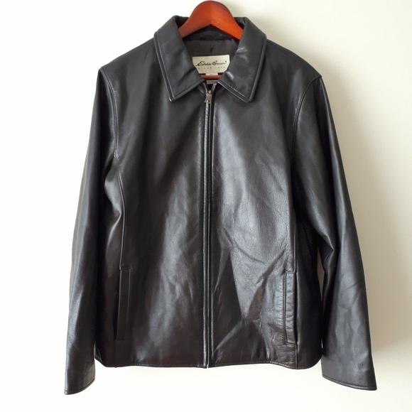 Eddie Bauer Jackets & Blazers - Eddie Bauer Dark Brown Leather Jacket